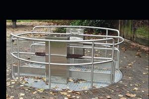 Die Konstruktion des behindertengerechten Karussells wurde individuell mit dem TÜV abgestimmt