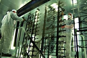 handwerkliche Ausführung auf höchstem Niveau in der Handpulverkabine<br />