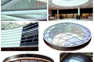 Einbau einer Atriumkuppel, UBS AG in Basel.
