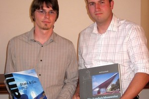 Klassenbeste Mathias Spira (r.) und Robert Worm